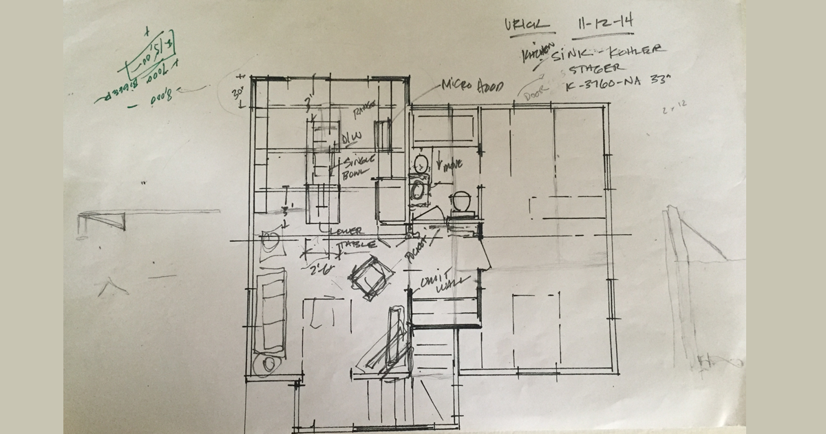 The first go at the floor plan.